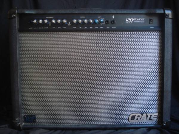 Crate GFX-212T Amp Amplifier 2x12 Built-in Effects Tuner - $150 (Huntington Beach)