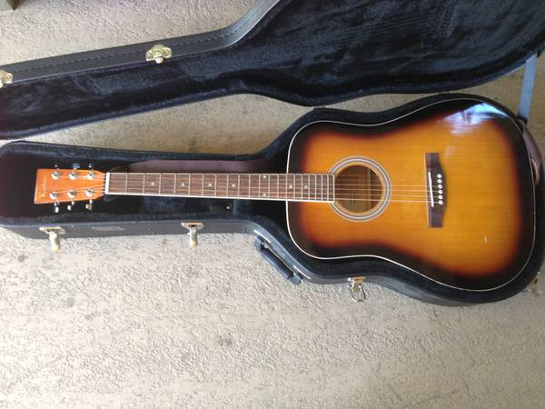 Kashmir Acoustic Guitar with Road Runner Case - $95 (Lake Forest)