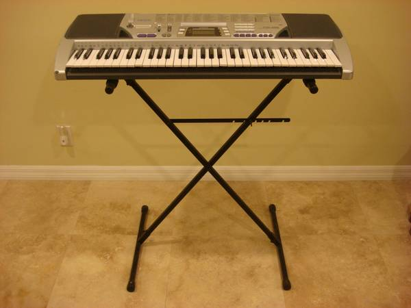 Casio CTK-496 100 Song Bank 61 Keys Electronic Keyboard w KMD Stand - $65 (Westminster HB Fountain Valley)