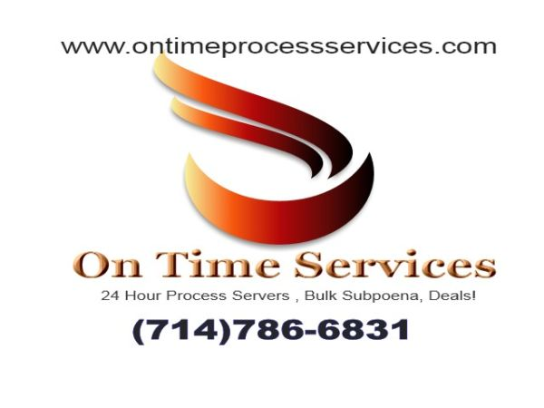 $25.00 Registered Process Server OC 714-786-6831 (ORANGE COUNTY)