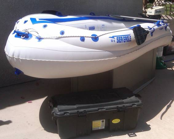 Sea Eagle SE-8 Inflatable Boat with 3hp Tanaka Motor Great Condition - $450 (Palm Desert)