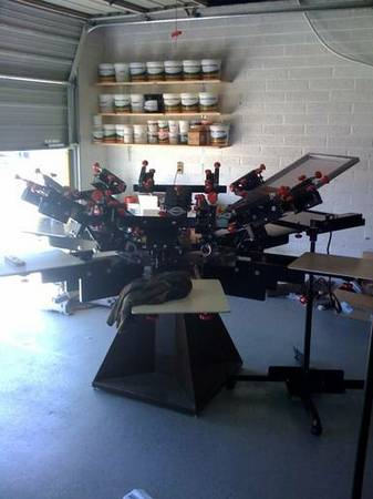 used screen printing equipment - $12500 (29 palms)