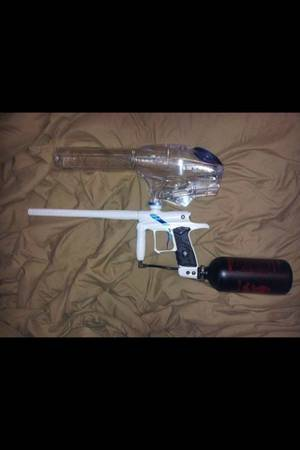 Dangerous power g4 paintball gun frost blue - $250 (Palm desert )