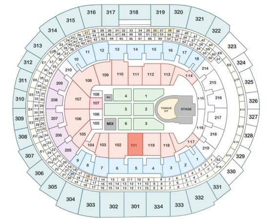 2 tix The Rolling Stones Aisle Seats Section 101 Staples - $800 (per ticket)