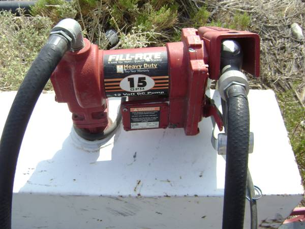 fuel transfer tank 105 gallon w12volt fillrite pump - $550 (yucca valley)