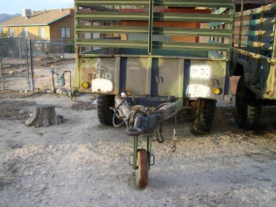 M105 Trailer - $375 -Will Barter - $375 (Joshua Tree, Ca)