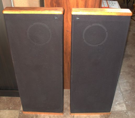 Lot of 2 DCM Timeframe TF350 Stand Up Floor Speakers HIGH QUALITY - $80 (Beaumont, CA)