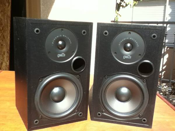 POLK BOOKSHELF SPEAKERS - $75 (PALM DESERT)