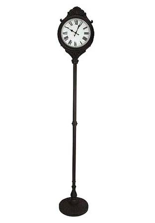Double-Sided Outdoor Large Pedestal Clock and Weather Gauge - $150 (Twentynine Palms)
