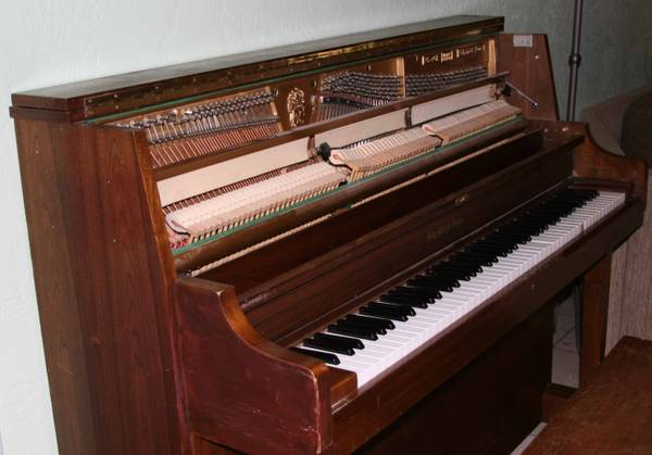 PIANO UPRIGHT SCHAFER SONS - $250 (Palm Springs)