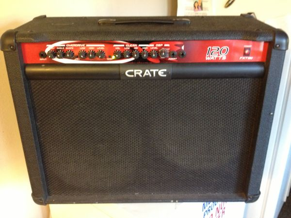 Crate FXT 120 Guitar Amp w foot pedal - $200 (Cathedral city)