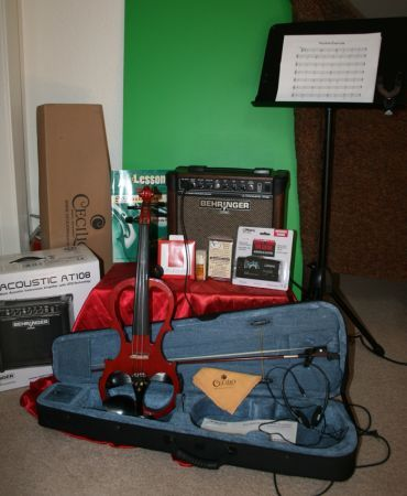 Electric Violin Starter Kit - Reduced for Quick Sale - $300 (Yucca Valley, CA)