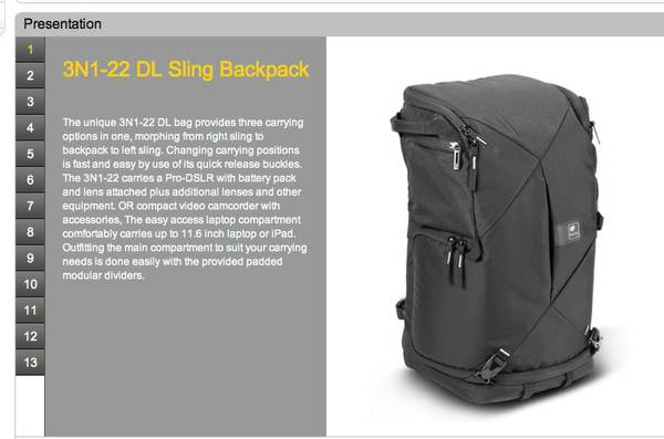 KATA 3N1-22 sling backpack - $75 (palm springs area)