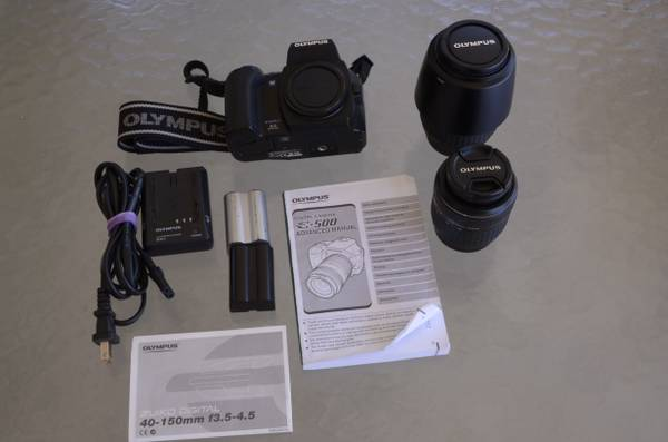 Olympus Evolt E500 8MP Digital SLR with 14-45m 40-150mm lense - $325 (Palm Springs, CA)