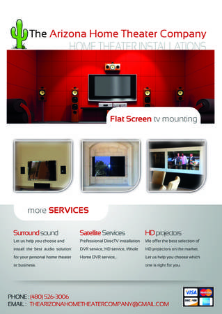 WALL MOUNT TV INSTALLATION--HOME THEATER--COMPONENT SHELVES