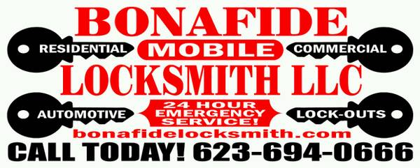 Bonafide Locksmith LLC (623)694-0666 (ValleyWide)