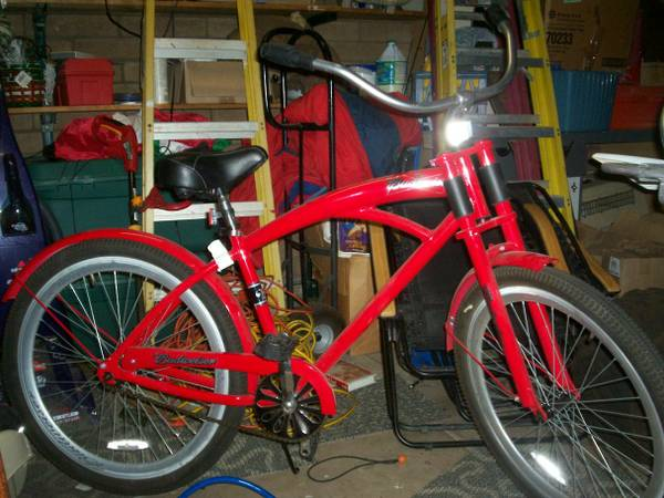 26 Red Budweiser Beach Cruiser - $300 (43rd Ave Bell)