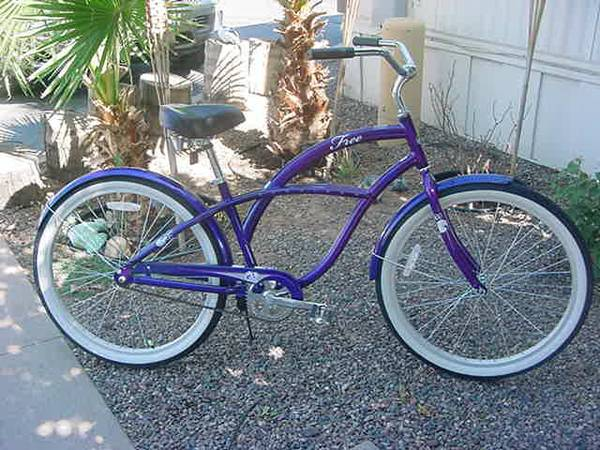 OP ( OCEAN PACIFIC ) 26 LADIES ALUMINUM BEACH CRUISER PURPLE - $99 (MESA EAST VALLEY)
