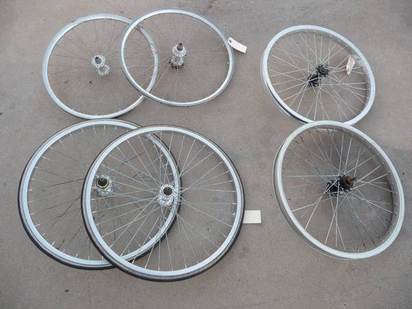 Several sets of Old School BMX rims, Ukai, Sumos like ARAYA TNT hubs (35th Ave and Bell Rd)