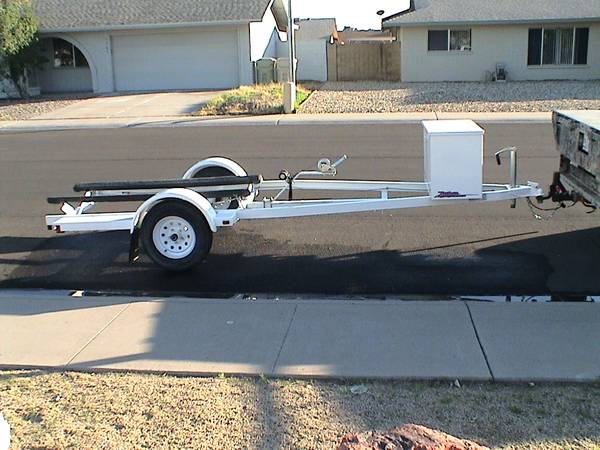 Zieman Jet Ski Trailer w large box AZ Title, ShoreLandr Single Dble