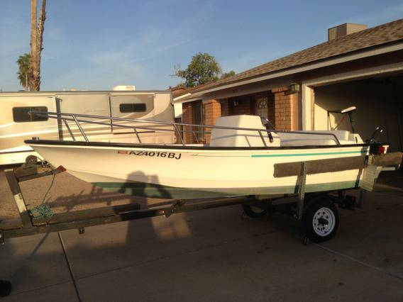 1994 14ft Boston whaler center console 60 hp Yamaha jet drive - $5900 (West Phoenix)