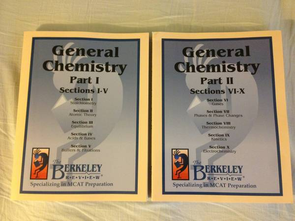 Berkeley Review MCAT- General Chemistry Part I II Book Set gtNEWlt - $60 (TempeMesa)