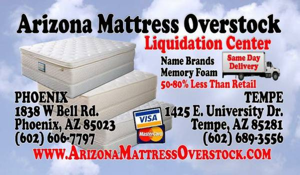 FREE 09240913TTRESS 65533 WITH ALL CAL 0922I0925G BED1029 65 ( arizona mattress overstock. com)