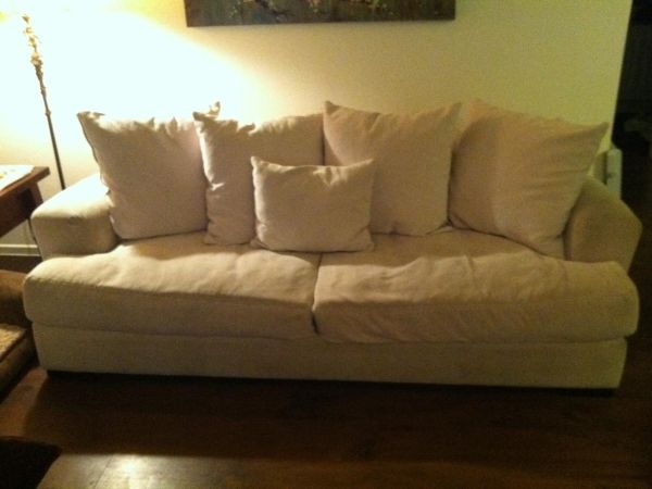 White Couch Z Gallerie - $200 (North Phoenix)