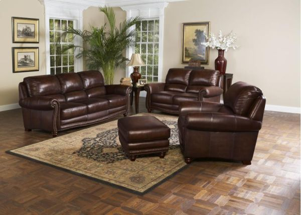 Brand New Leather Italia 4 Piece Living Room Set SALE - $2500 (Mesa-Select Furniture)