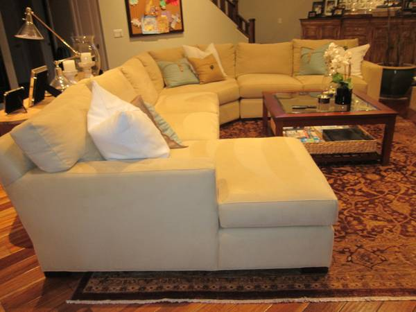 Large Ultra Suede Crate and Barrel Sectional Sofa - $3000 (PhoenixArcadia)