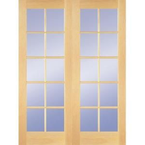 NEW INTERIOR WOOD 10-LITE FRENCH DOORS FOR SALE (24THSTCACTUS)