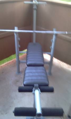 weight bench set - $150 (Chandler)