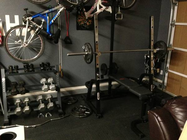 Olympic Weight set, with rack, dumbells, bench, squat $400 or trade fo - $400 (Buckeye)