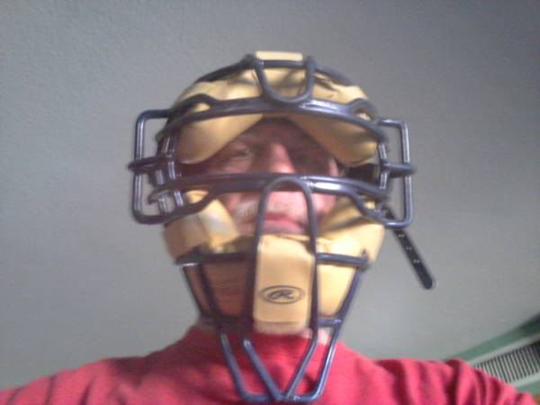CATCHERS MASK RAWLINGS 12 PLUS OVER THE HELMET THROAT GUARD - $20 (35 AVE BELL RD)