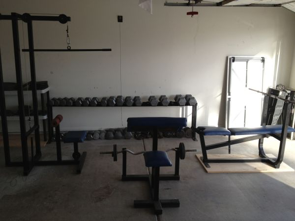 HOME GYM WEIGHT SET, MACHINES, BENCH, PLATES, DUMBELLS, ETC - $500 (TEMPE-McLINTOCKELLIOT)