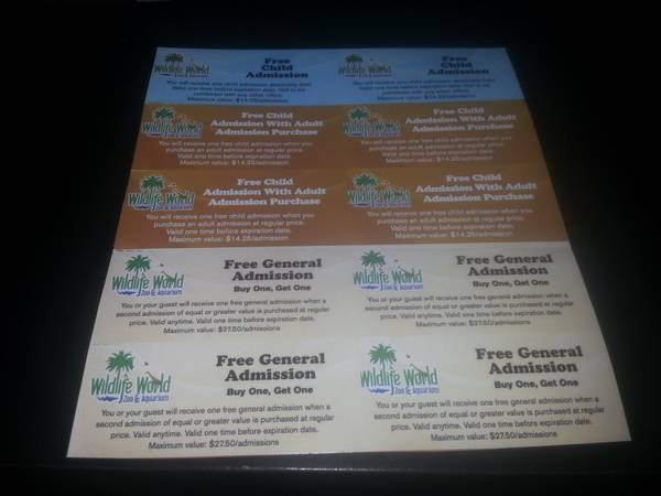 Wildlife World Zoo Aquarium Tickets - $7 (75th Ave Union Hills )