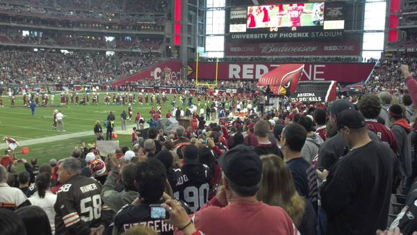 2 - SD Chargers at Arizona Cardinals tickets on Players tunnel park - $150 (Sec 113 Row 13)