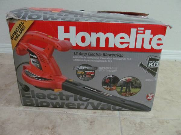 Homelite 12 Amp Electric BlowerVac LIKE NEW - $35 (51st ave Baseline)