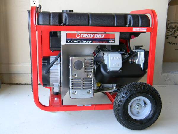 TROY-BILT 5550 WATT POWER GENERATOR W ADAPTER CORD. LIKE NEW - $525 (Scottsdale, AZ)