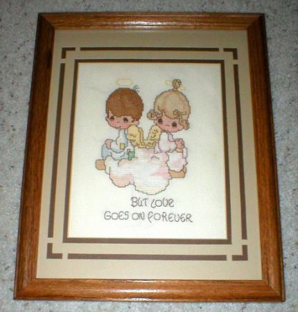 Precious Moments Cross Stitch - Framed-But Love Goes on Forever -Vtg - $15 (Mesa, AZ)
