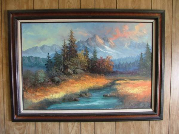 CAROLL FORSETH PAINTING 24x36 - DESPERATE TO SELL - $2500 (Kingman, Az.)