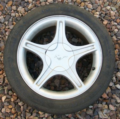 99 Mustang GT Wheels with Tires 17x8 - $295 (Mesa)