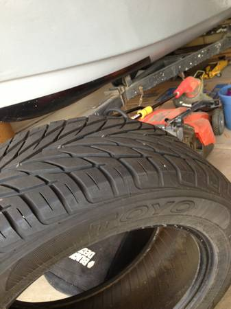 Set of 4 P25555 R18 Great Condition Tires GOODYEAR EAGLE LS2TOYO - $60 (South Scottsdale)