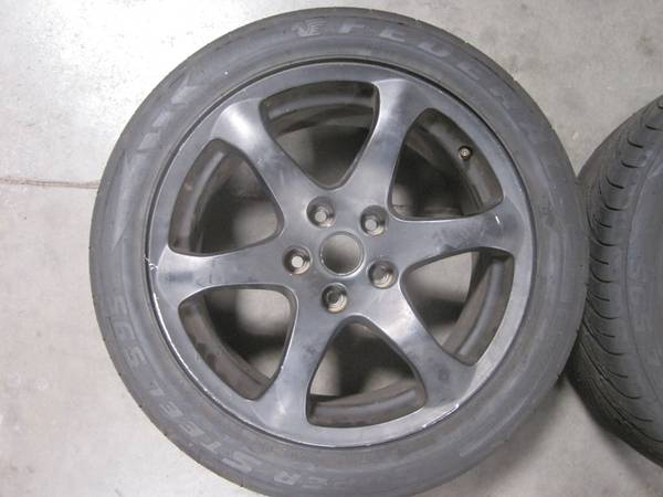 OEM G35 BLACK WHEELS WITH TIRES ONLY 2 - $80 (TEMPE)