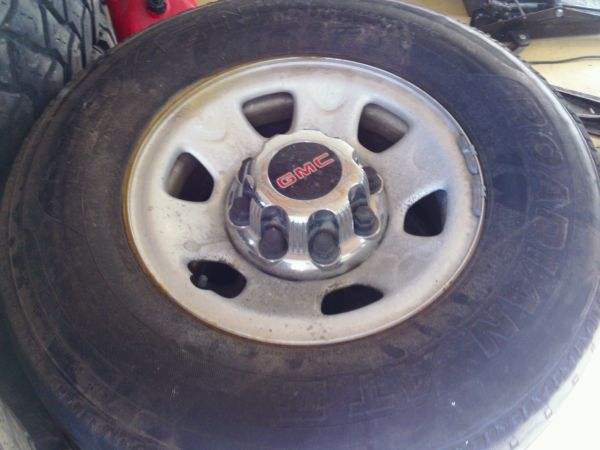 8 Lug wheels and Center Caps For 2003 GMC 2500HD - $90 (101 and 19th Ave)