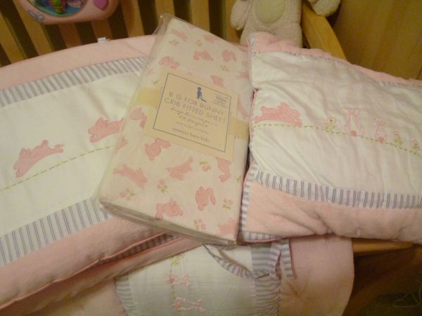 Pottery Barn Baby Girl Bedding - $80 (Palm Valley)