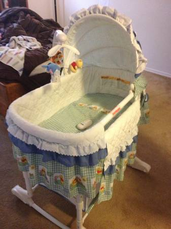 Bassinet, bedding, swing, car seat cover, boppy sling carrier (San tan valley)