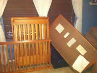POTTERY BARN KIDS SLEIGH CRIB HONEY GOOD USED CONDITION - $75 (DC RANCH NORTH SCOTTSDALE)