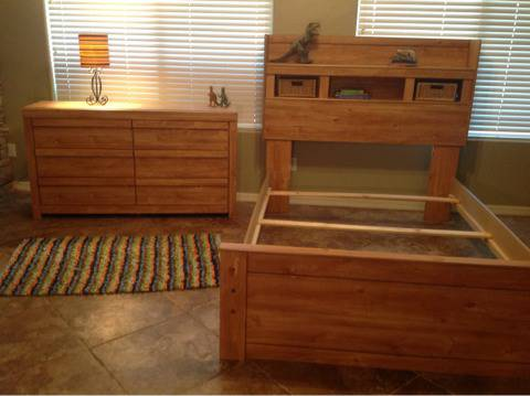 NEW- Ashely Full size bed and 6 drawer dresser - $400 (Gilbert)