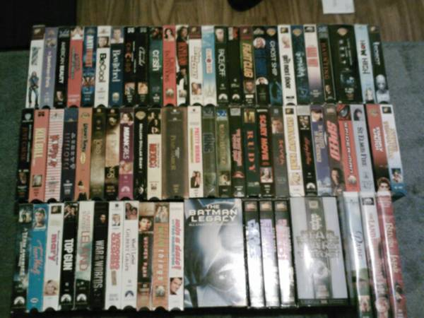 76 VHS Movies - $1 (Chandler)
